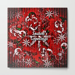Season's Greetings Art Metal Print