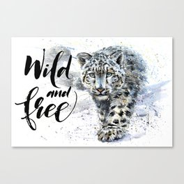 Snow leopard Wild and Free Canvas Print