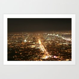 Beautiful San Francisco Skyline  Art Print
