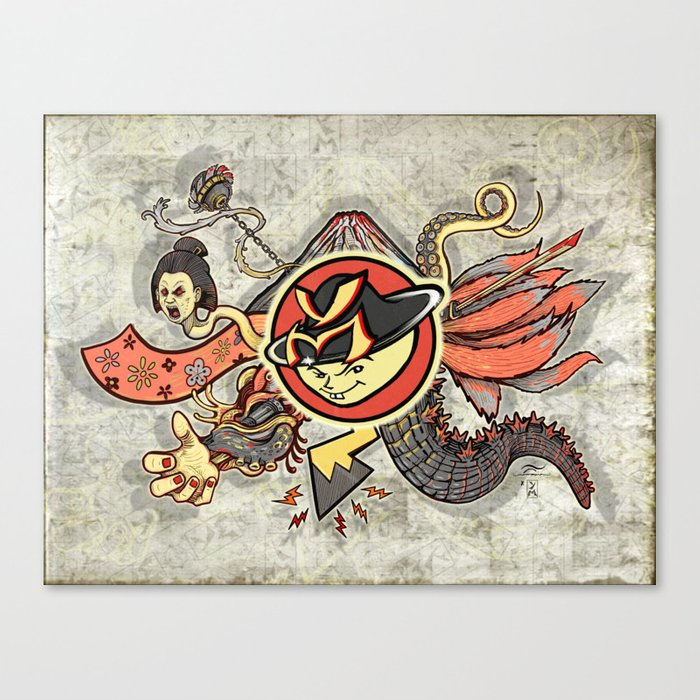 YM Japanese Tails Canvas Print