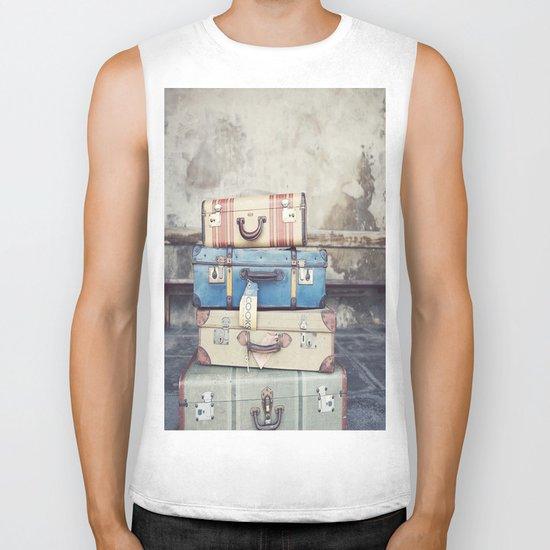 Suitcases Biker Tank