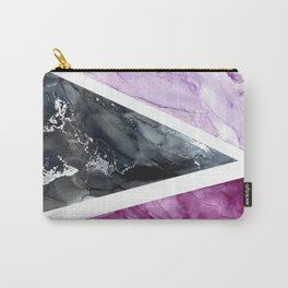 Pink, Black, and Lavender Color Blocked Watercolor Carry-All Pouch