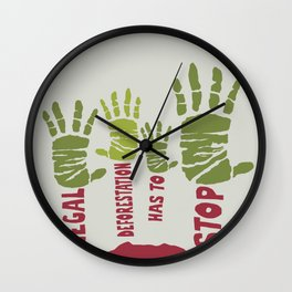 Deforestation has to stop Wall Clock