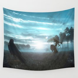 Crow of Life Wall Tapestry