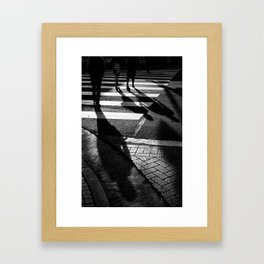 Three Shadows Framed Art Print