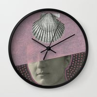 audrey Wall Clocks featuring Audrey by Naomi Vona