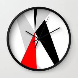 Triangles get together Wall Clock