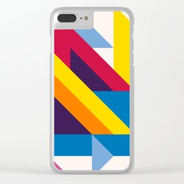 Abstract modern geometric background. Composition 20 Clear iPhone Case