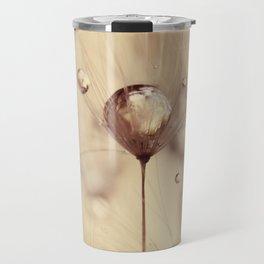dandelion gold drop Travel Mug