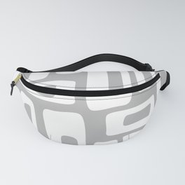 Retro Mid Century Modern Abstract Pattern 335 Gray Fanny Pack