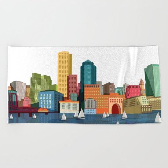 City Boston Beach Towel