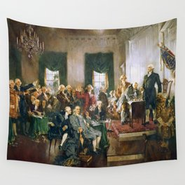 The Signing of the Constitution of the United States - Howard Chandler Christy Wall Tapestry