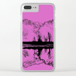 Knik River Mts. Pop Art - 5 Clear iPhone Case