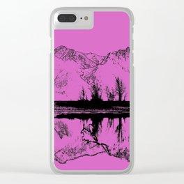 Knik River Mts. Pop Art - 5 Clear iPhone Case