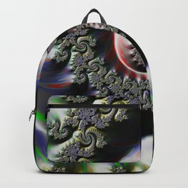 Cool Wet Paint Fractal Swirl of RGB Primary Colors Backpack
