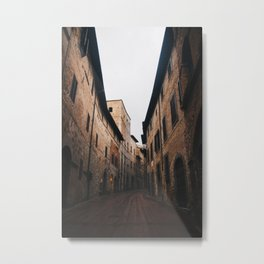 Medieval alley in Tuscany Metal Print