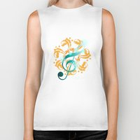 music notes Biker Tanks featuring Music Notes  by HK Chik