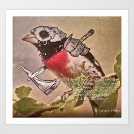 Birds In Armor 7 Art Print