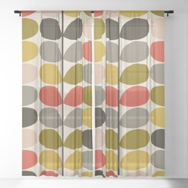 Modern Painting Geometric Seamless Abstract Pattern Mid Century XVI Sheer Curtain
