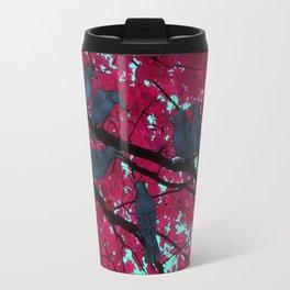 autumn crows, red maple Travel Mug