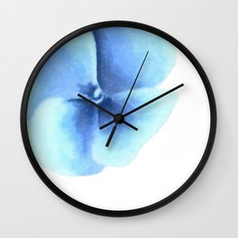Minimalist flower, Blue pansy Wall Clock