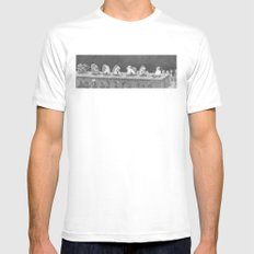 Hot Dam SMALL White Mens Fitted Tee