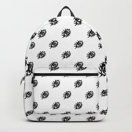 Graphic Eyes Pattern Backpack