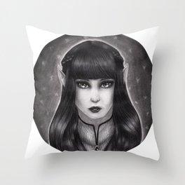 Fae Portrait  Throw Pillow