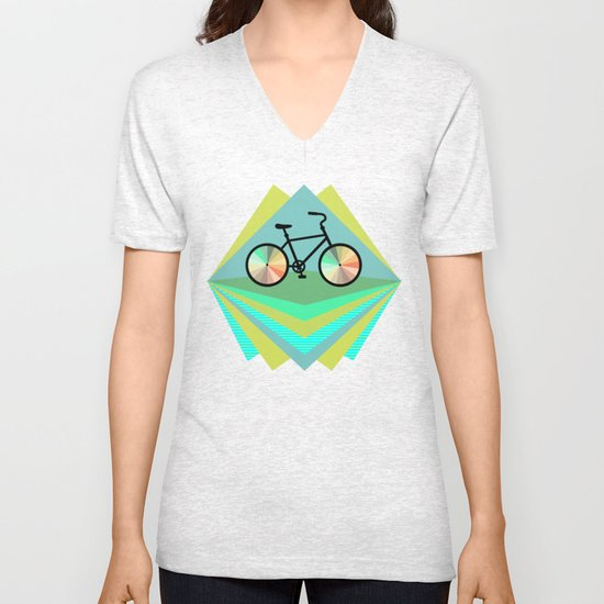 wanna ride my bicycle Unisex V-Neck
