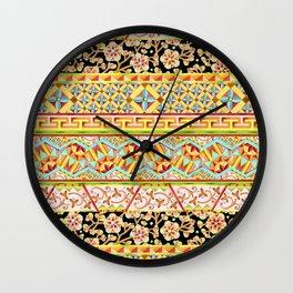 Gypsy Boho Stripe Wall Clock