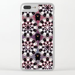Black and White Penguins Clear iPhone Case