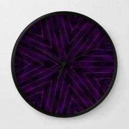 Eggplant Purple Wall Clock