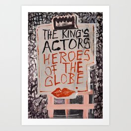 The Globe Kiss Art Print