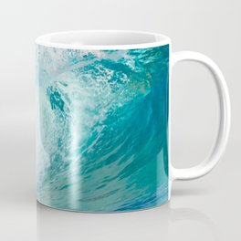 Pacific big surfing wave breaking Coffee Mug