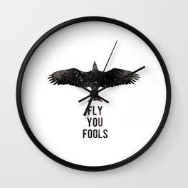 Fly, you fools! Wall Clock
