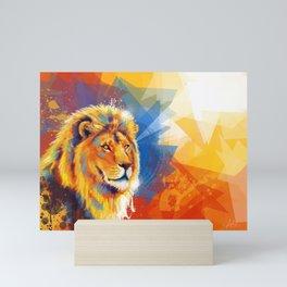 Majesty - Lion portrait Mini Art Print