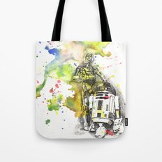C3PO and R2D2 from Star Wars Tote Bag