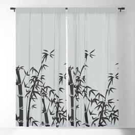 Bamboo black - grey Blackout Curtain
