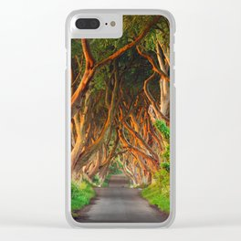 The Dark Hedges - County Antrim - Northern Ireland Clear iPhone Case