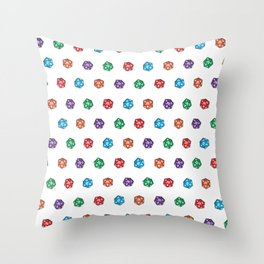 D20 multiple dice non-linear Throw Pillow