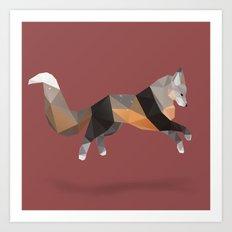 Silver Cross Fox. Art Print