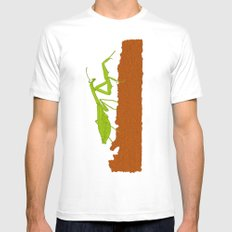 Praying Mantis MEDIUM Mens Fitted Tee White
