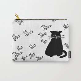 Cat and Birds with Attitude Carry-All Pouch