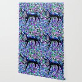 Horse Beneath the Petals Wallpaper
