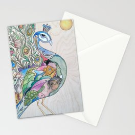Planetary Peacock Stationery Cards