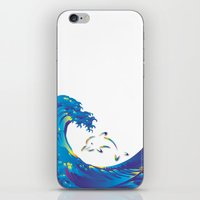 hokusai iPhone & iPod Skins featuring Hokusai Rainbow & dolphin_G by FACTORIE