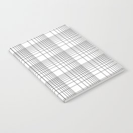 Simple Grid Pattern-Black on White - Mix & Match with Simplicity of life Notebook
