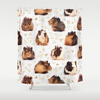 guinea pig Shower Curtains featuring The Essential Guinea Pig by micklyn