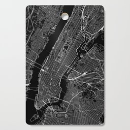 New York City Black Map Cutting Board