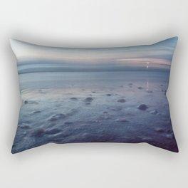 beach evening Rectangular Pillow